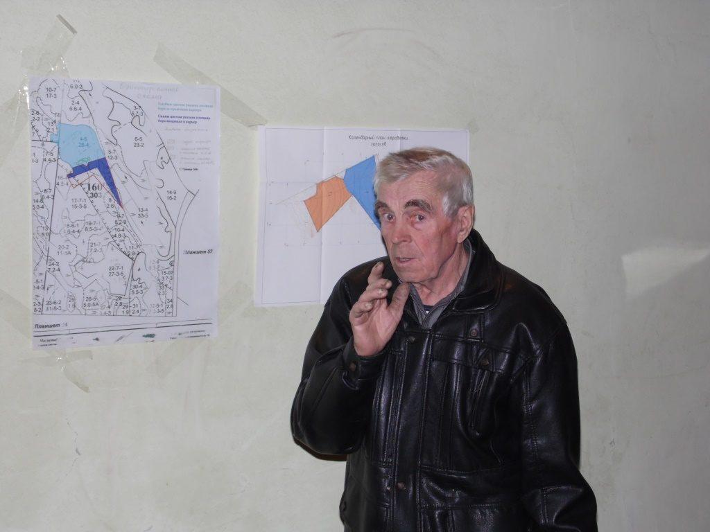 Пенсионер из Суны Василий Дийков. Фото: Алексей Владимиров