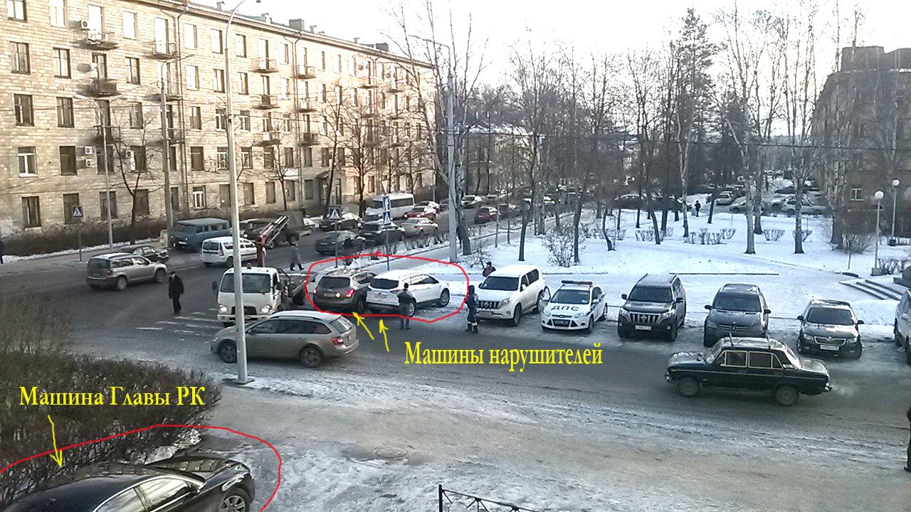 Почему сотрудники ДПС не эвкауировали машину губернатора? Фото: Виктор Позерн