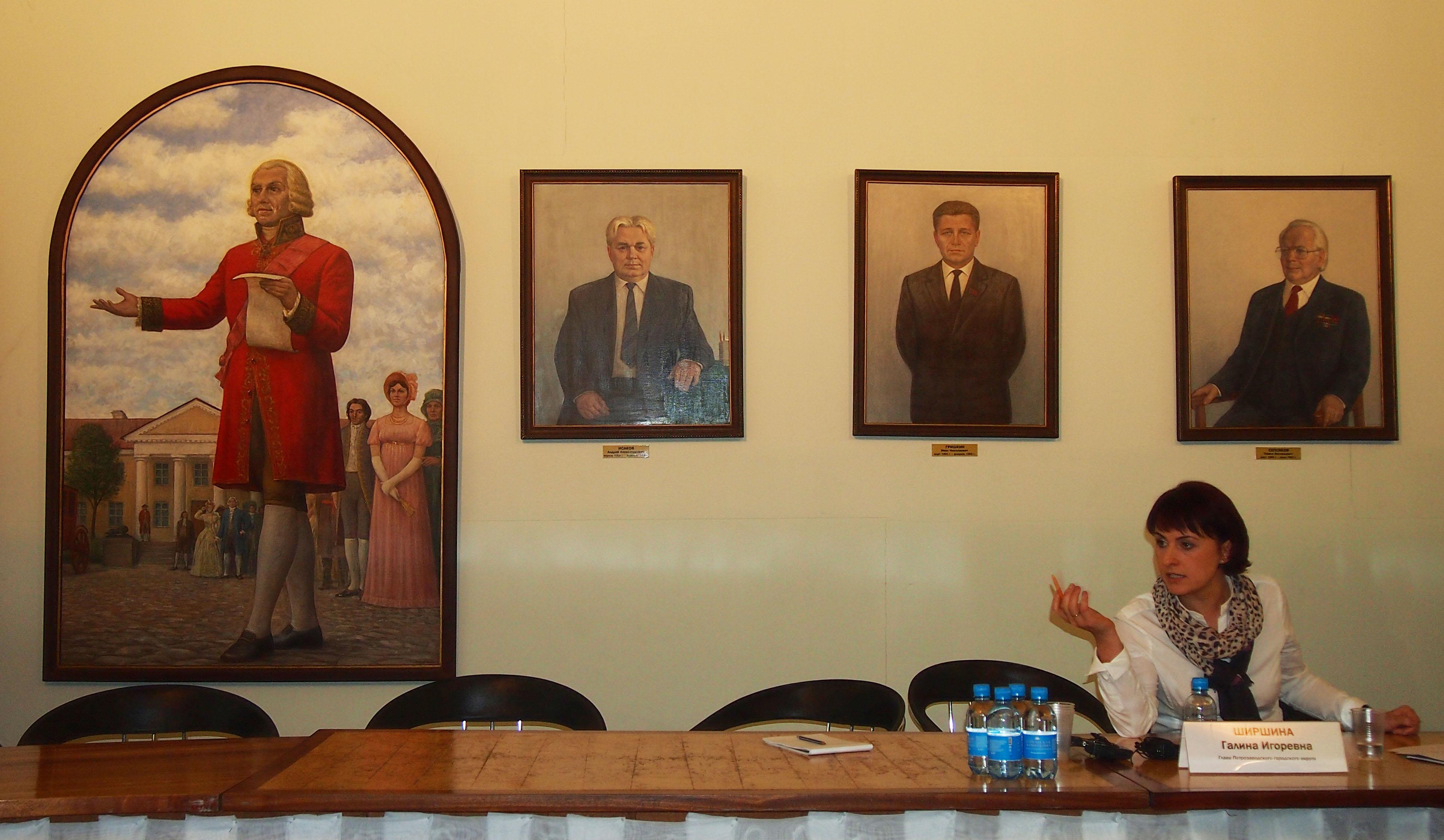 Галина Ширшина выступает на пресс-конференции. Фото: Валерий Поташов