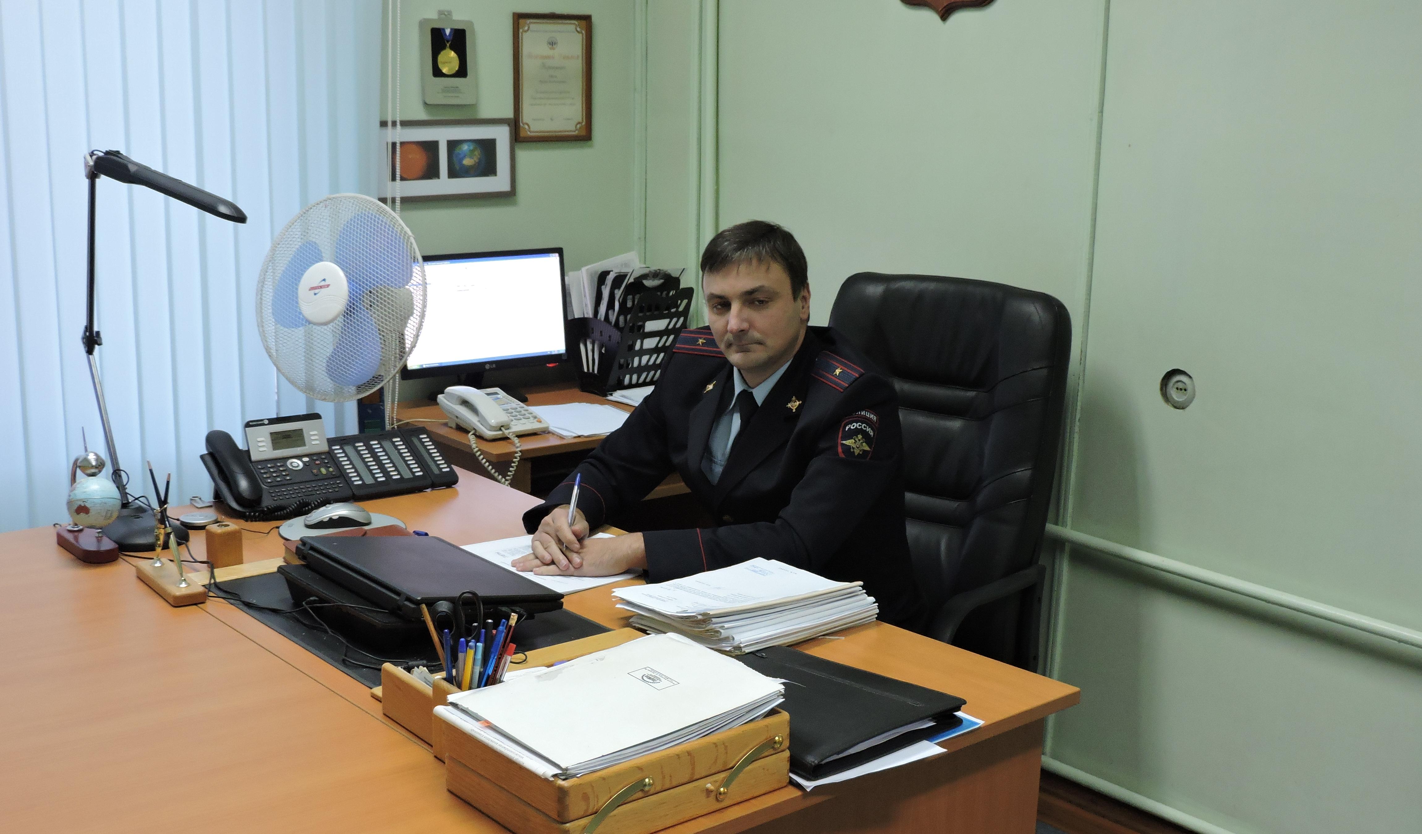 Начальник отдела полиции Руслан Барсук. Фото из архива отдела