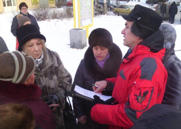 Митинг с требованием отставки депутатов горсовета на Студенческом бульваре в Петрозаводске. Фото: Валерий Поташов
