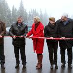 Открытие после реконструкции участка дороги Ихала-Райвио-госграница в Лахденпохском районе. Фото: gov.karelia.ru