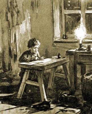 """Иллюстрация к рассказу А.П. Чехова """"Ванька"""""""
