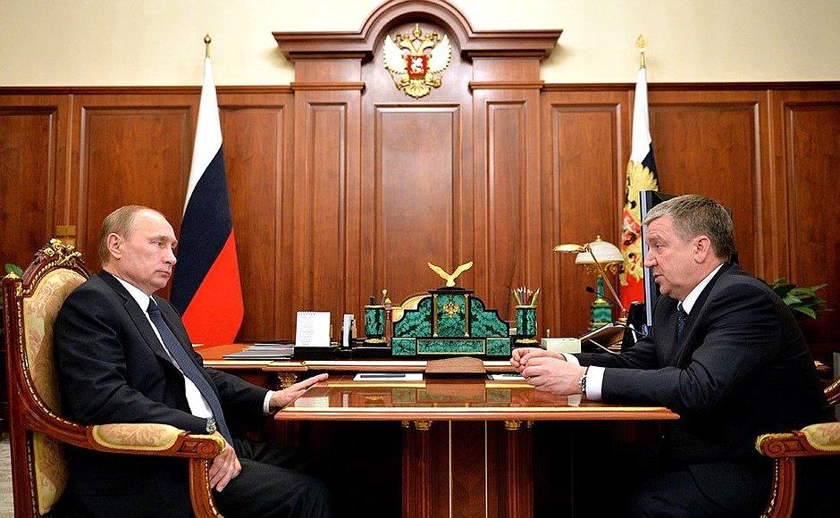 Владимир Путин и Александр Худилайнен. Фото: президент.рф