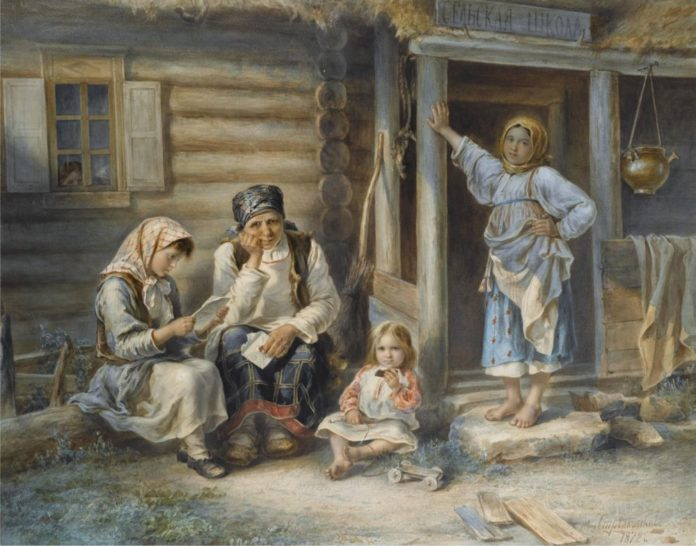 Репродукция картины Алексея Стрелковского