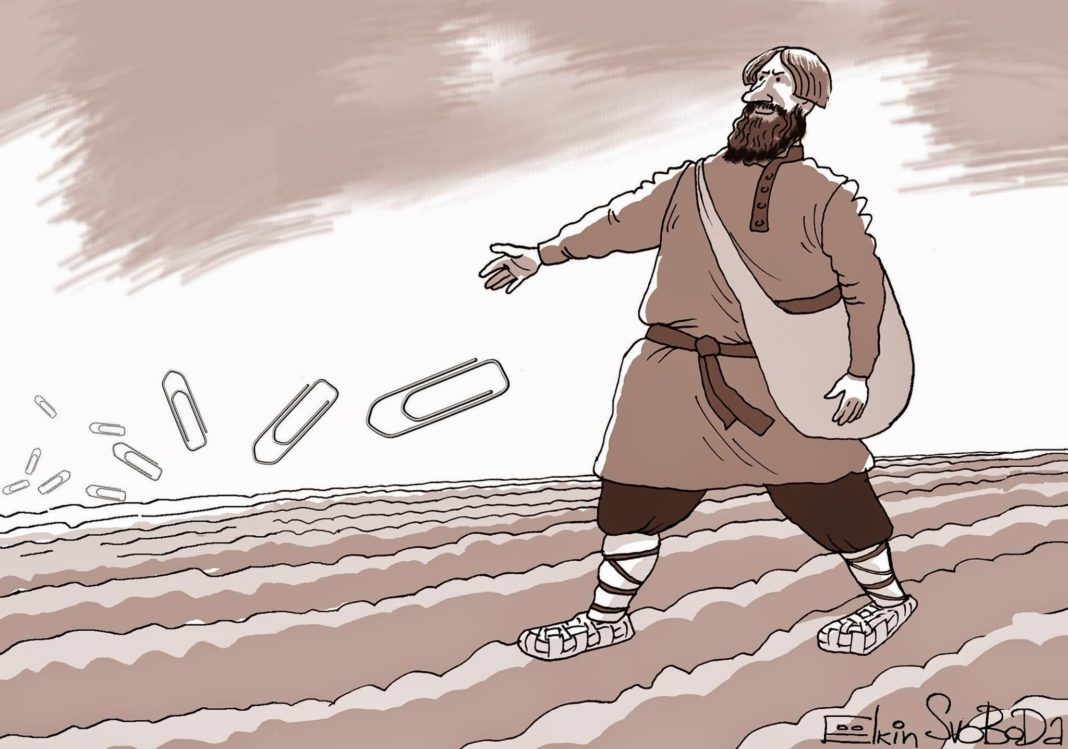 Духовные скрепы. Карикатура Сергея Елкина