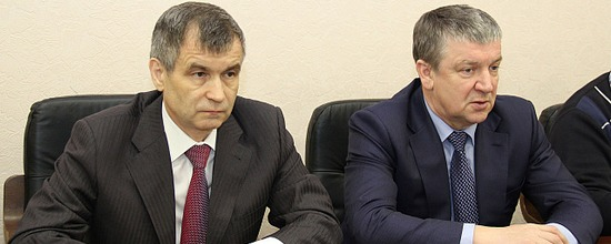 Александр Худилайнен и Рашид Нургалиев. Фото: gov.karelia.ru