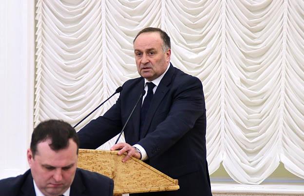 Валентин Чмиль считает реализацию антикризисного плана в Карелии успешной. Фото: gov.karelia.ru