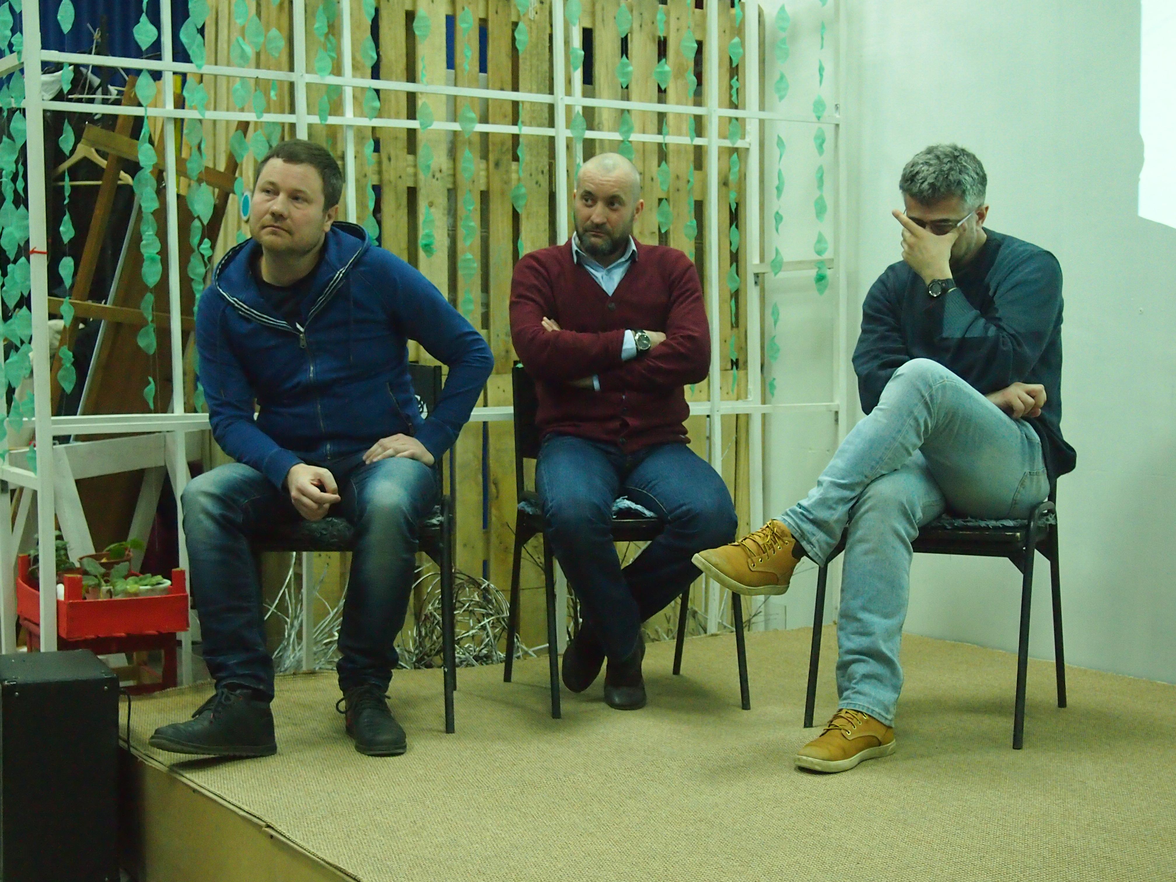 Роман Гольцев, Даниил Гвоздев и Александр Фукс. Фото: Валерий Поташов