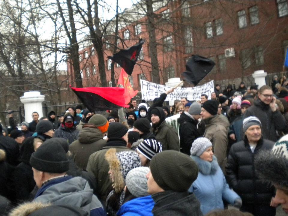 Пикет за честные выборы перед зданием правительства Карелии. Декабрь 2011 года. Фото: Валерий Поташов