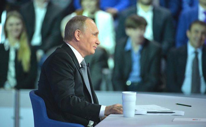 Президент Путин провел 14 апреля очередную Прямую линию со страной. Фото: kremlin.ru
