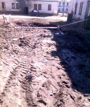 На улице Сегежской в поселке Надвоицы. Фото: facebook.com