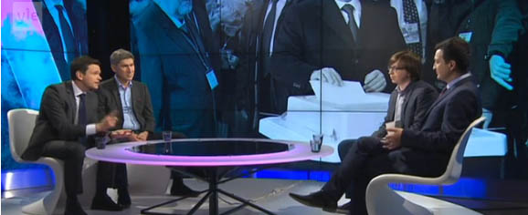 Фрагмент дискуссии. Фото: yle.fi
