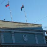 Закат над правительством Карелии. Фото: Валерий Поташов