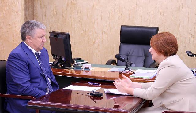 На встрече главы Карелии сруководителем регионального исполкома ОНФ. Фото: gov.karelia.ru