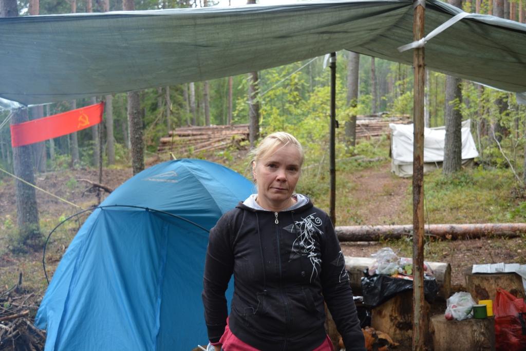 Защитница Сунского бора Светлана. Фото: Алексей Владимиров