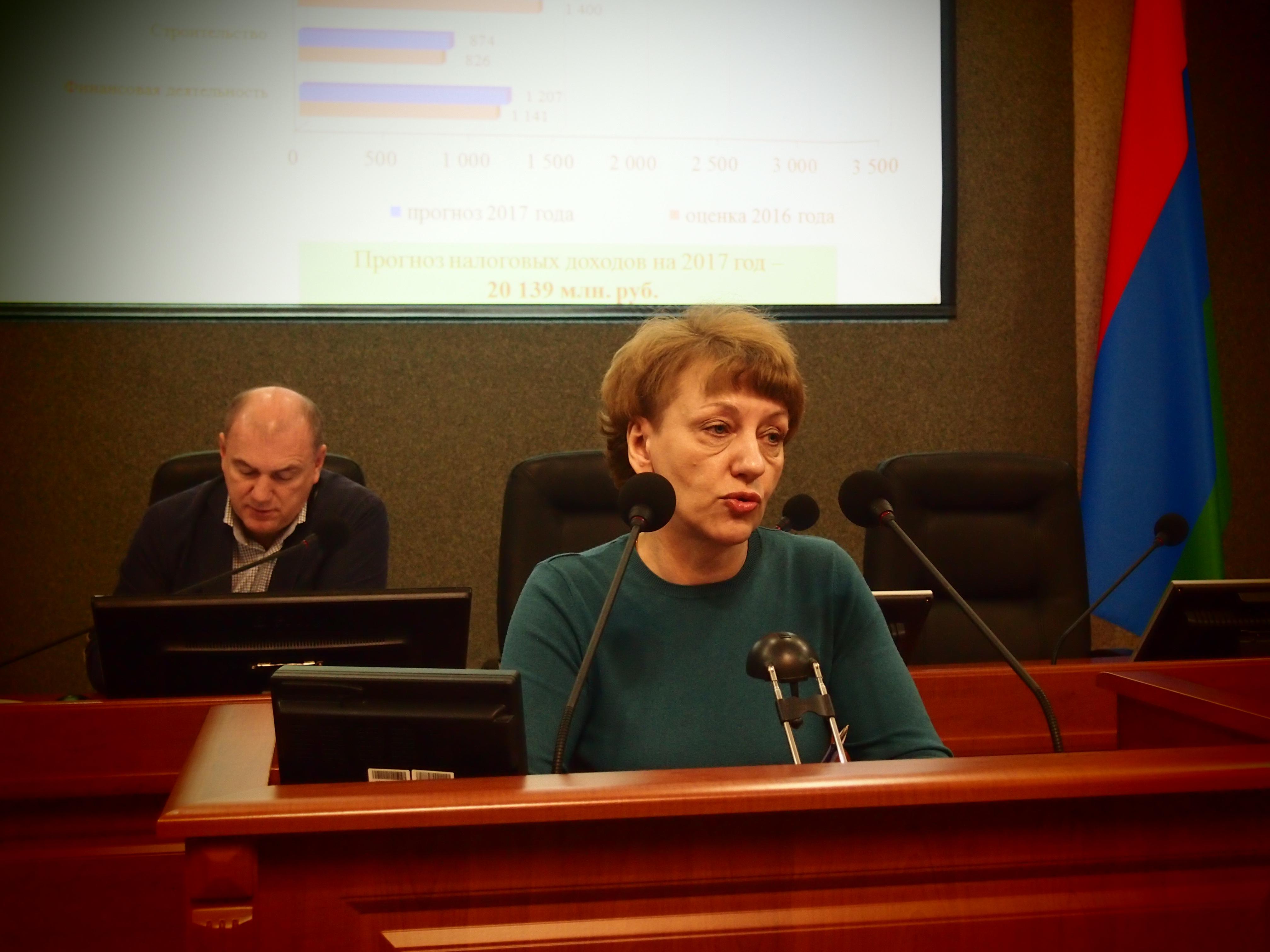 Министр финансов Карелии Ирина Ахокас. Фото: Валерий Поташов