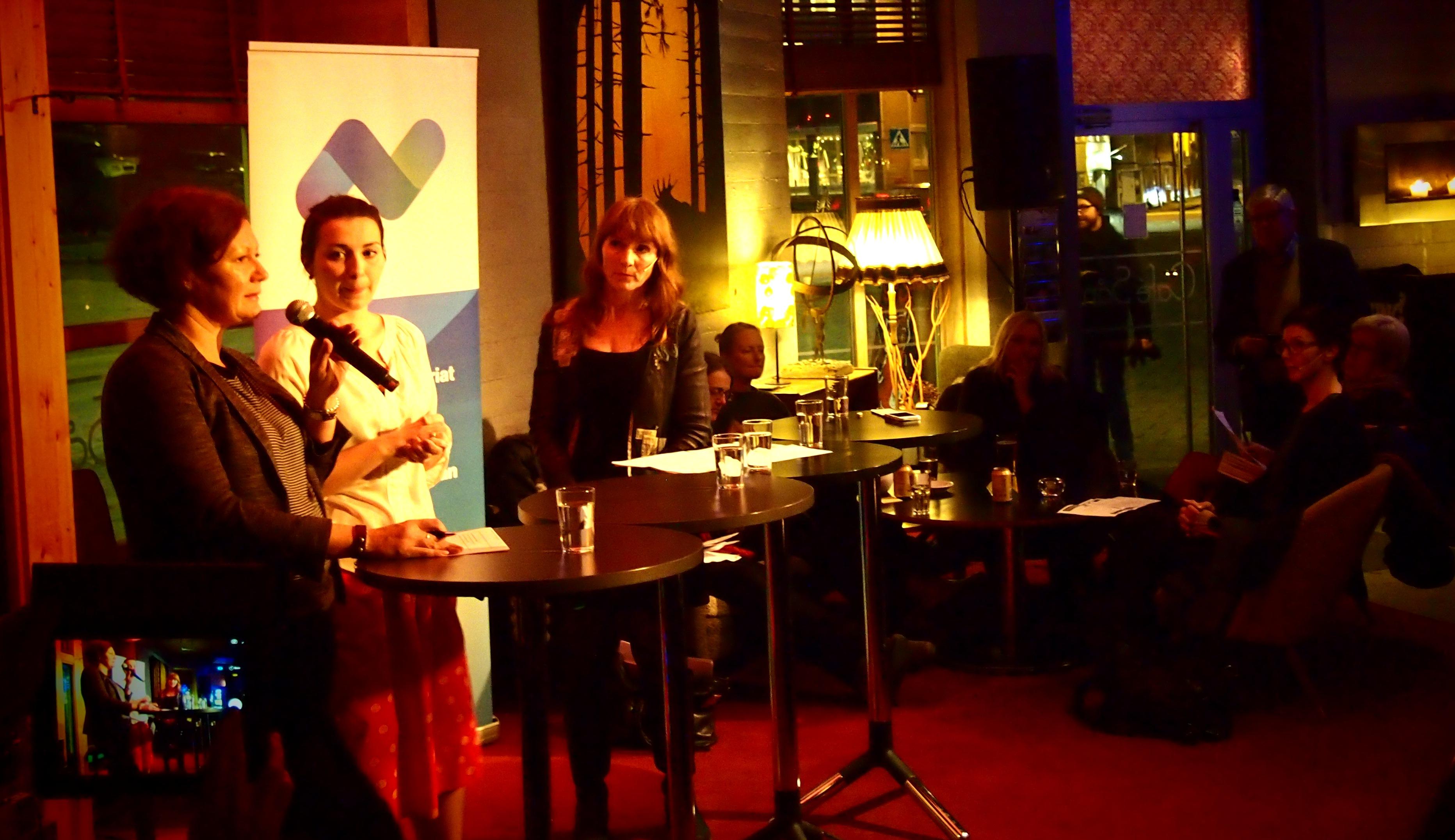 Во время публичных дебатов в Тромсе. Фото: Валерий Поташов