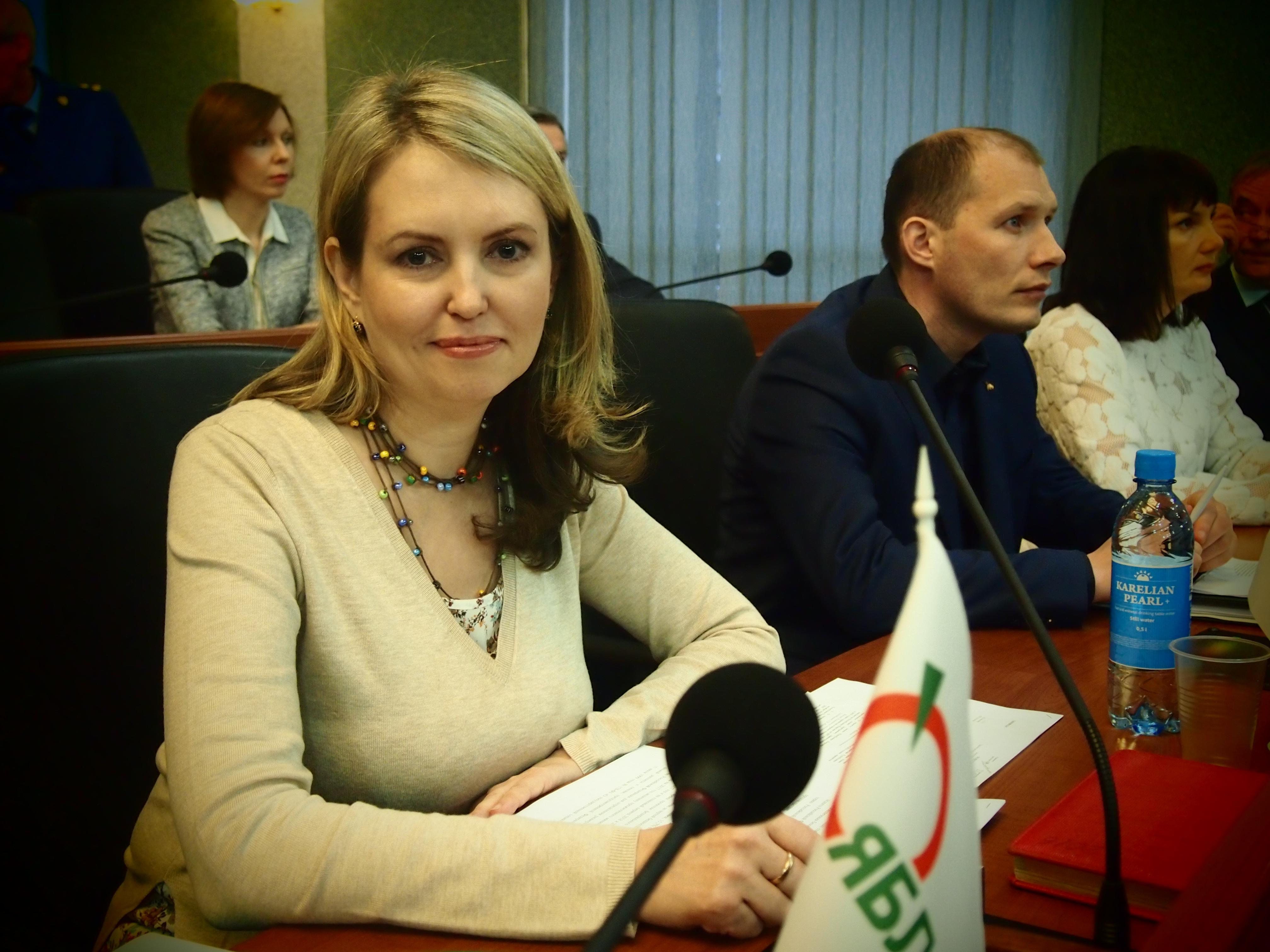 """Лидер фракции """"Яблоко"""" в парламенте Карелии Ольга Залецкая. Фото: Валерий Поташов"""