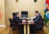 Глава Карелии Александр Худилайнен и арестованный ныне по подозрению в коррупции экс-председатель Контрольного комитета республики Виталий Галкин
