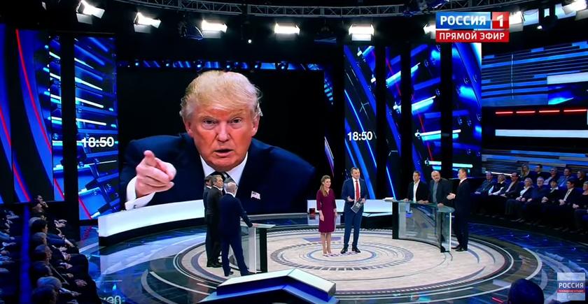 Доналд Трамп - главный герой российских политических шоу. Фото: YouTube