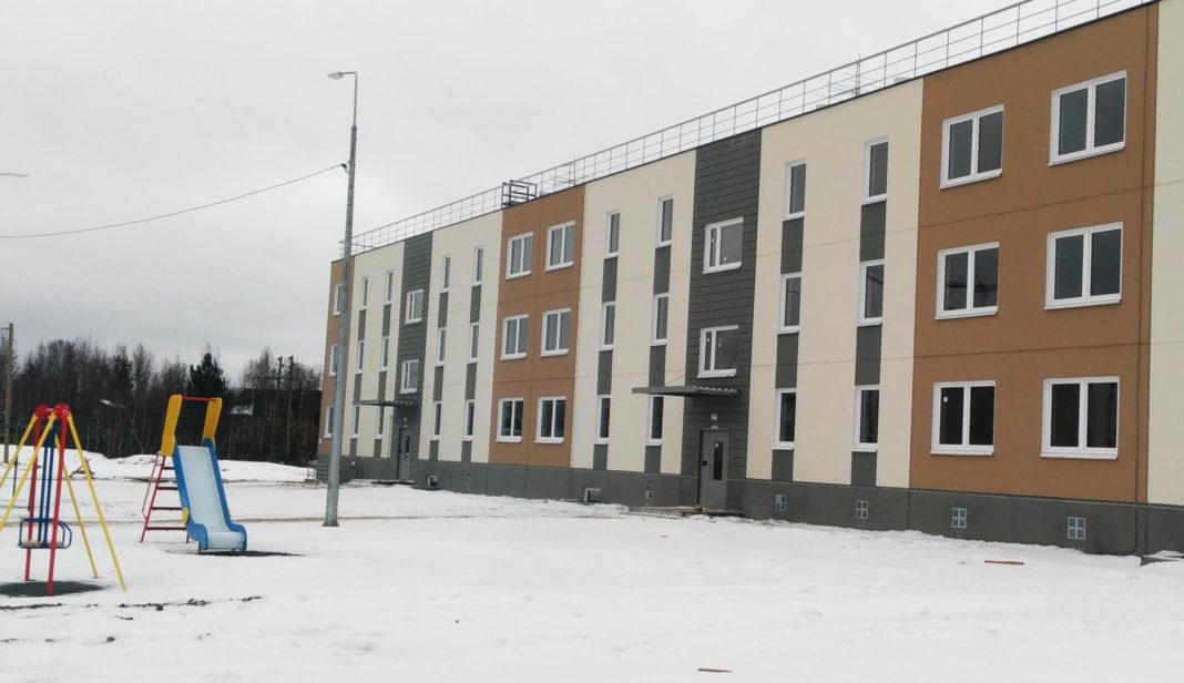 Новый дом в карельском поселке Чална, построенный по программе расселения аварийного жилья. Фото: ОНФ