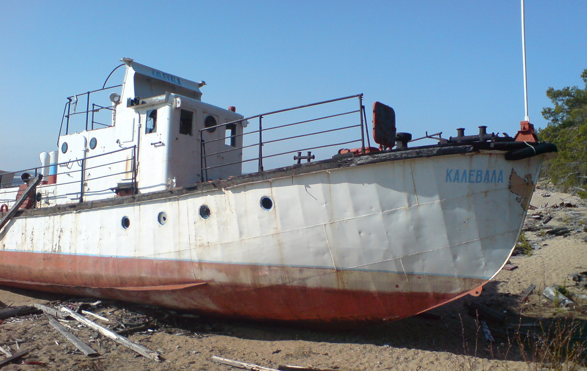 """Калевала"" на корабельном кладбище. Фото: Андрей Туоми"
