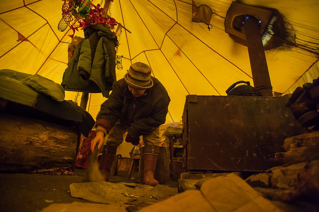В лагере защитников Сунского бора. Фото: Игорь Подгорный