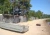 Лодочные гаражи на берегу Онежского озера. Фото местных жителей