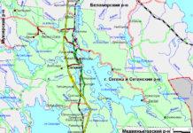 Сегежский район Карелии. Карта с официального сайта муниципального образования