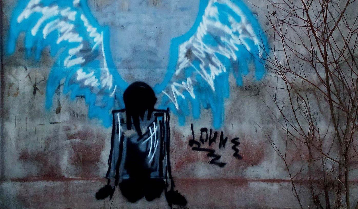 Рисунок на заборе - крик о помощи? Фото: Татьяна Смирнова