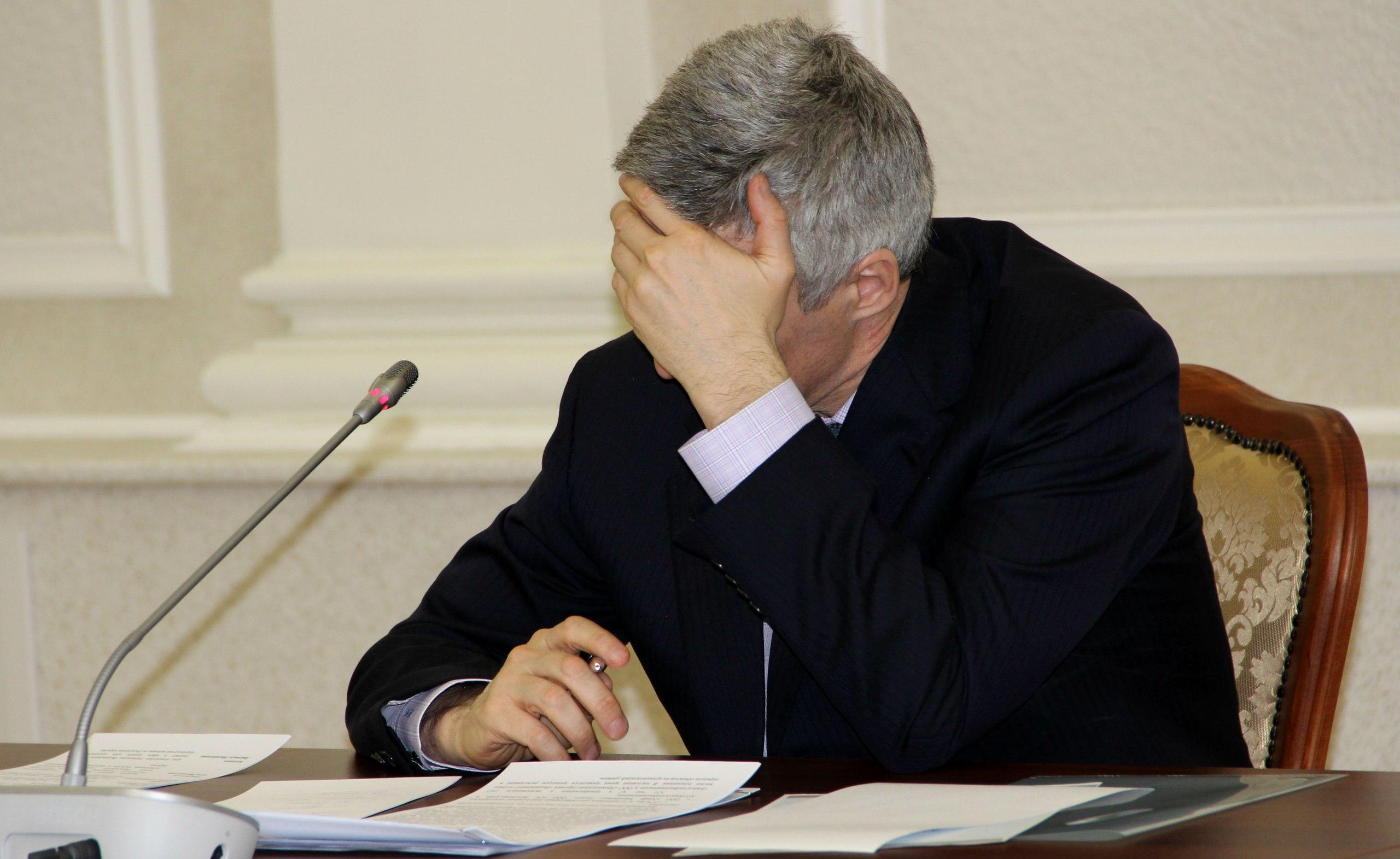 """Врио главы Карелии пришлось хвататься за голову от осознания того, какое ему досталось """"наследство"""" от экс-губернатора. Фото: Илона Радкевич"""
