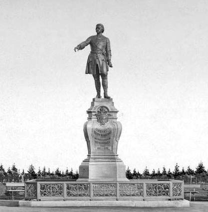 Памятник Петру Первому в Петрозаводске. Архивное фото
