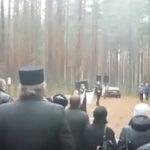 На официальной траурной церемонии в Красном Бору. Фото: Наталья Ермолина