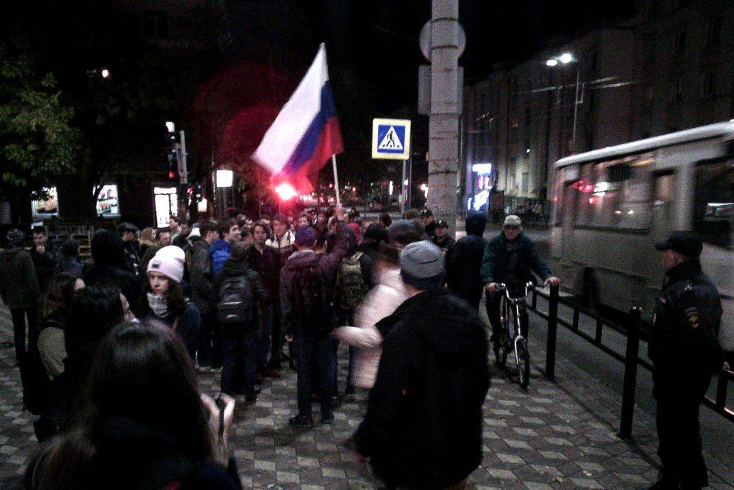 В Петрозаводске прошла акция в поддержку Алексея Навального. Фото: Валерий Поташов
