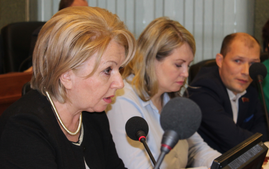 """Председатель партии """"Яблоко"""" Эмилия Слабунова. Фото: Валерий Поташов"""