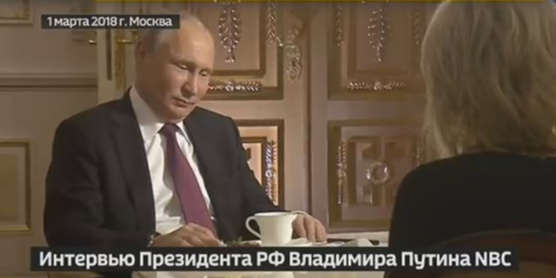 Интервью президента Путину американскому каналу NBC. Фото: YouTube
