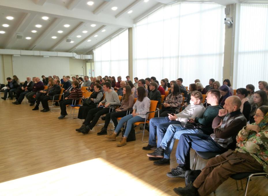 На лекции. Фото: Дмитрий Бобров