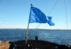 Северокарельский флаг 1918 г. Otava (Большая Медведица) - символ многих сторонников регионализма в современной Карелии. Фото: Вадим Штепа