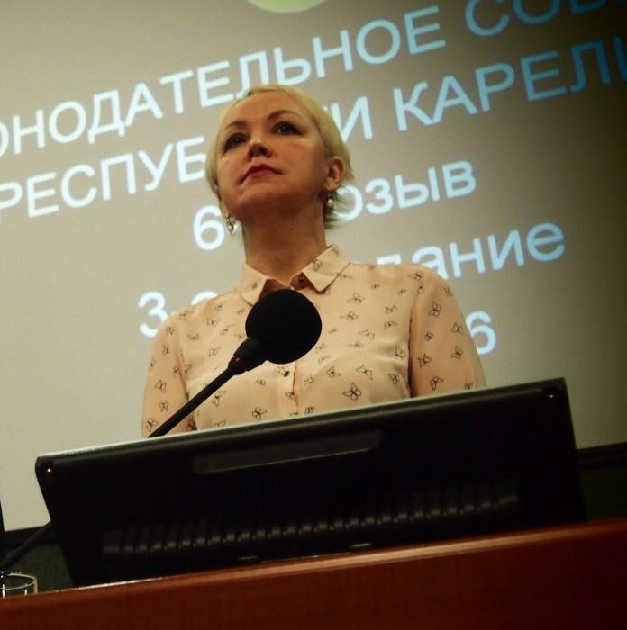 Депутат парламента Карелии Ольга Шмаеник. Фото: Валерий Поташов