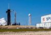 Ракета Falcon 9 Block 5 и космический корабль Crew Dragon C205 во время миссии Demo-2